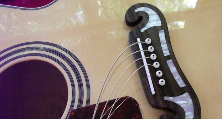 Acoustic guitar left-hand conversion