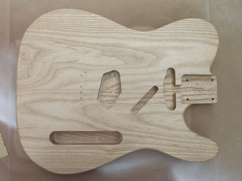 Finishing an Ash Telecaster in Butterscotch nitrocellulose lacquer ...