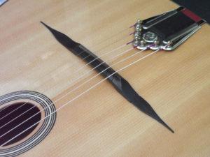 Dell Arte gypsy jazz guitar bridge reprofile