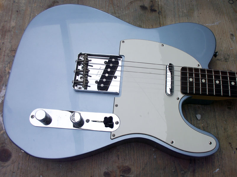 Finished Ice Blue Telecaster