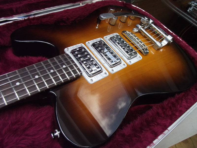 Telecaster style guitar with 3 TV Jones pickups ...