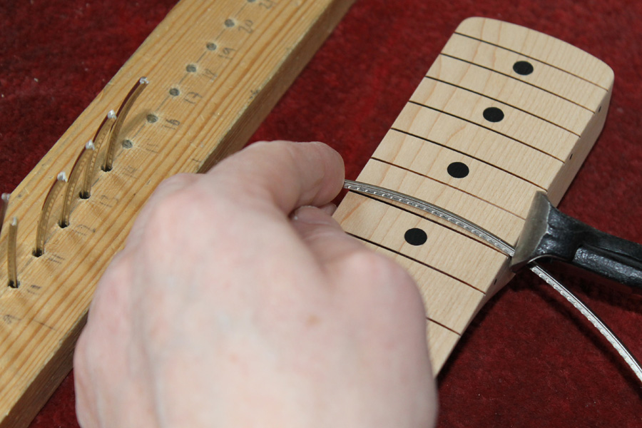 fretting and finishing a guitar neck. Black Bedroom Furniture Sets. Home Design Ideas