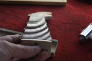 Looking down the neck you can see that all the frets are level and well-seated
